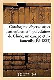 Catalogue d'objets d'art et d'ameublement, porcelaines de Chine: un canapé et six fauteuils en tapisserie Louis XV