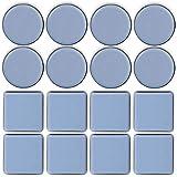 TheStriven 16 pièces Patins en Téflon Adhésifs Patin Glisseur en Teflon Patins en Téflon pour Meubles Patins Autocollants en Téflon Patins de Meubles Ronds pour Chaises et Fauteuils (A)
