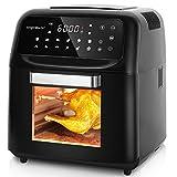 Aigostar Master – Friteuse sans huile, Friteuse four à air chaud 14 en 1 avec écran tactile LED. 10L, 1650W. Inclus 5 accessoires.