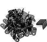 Équerres de Fixation 1'x1'x0.6', STARVAST 50PCS Équerre Angle,Support en Forme de L Noir Équerre pour Étagère en Bois, Armoire, Chaise, Table, Porte – Noir