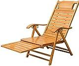 WJMLS Bois Relax Chaise berçante inclinable avec accoudoirs et Repose-Pied réglable Recliners Pliant Adulte Pause déjeuner Rocking Chair