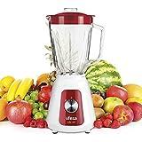 Ufesa BS4717 Ruby Red Blender Mixeur, 1500W, 1.5L, 2 Vitesses + Pulse, 4 Lames en Acier Inoxydable, Fermeture Hermétique, Glace Pilée, Sans BPA