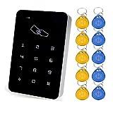 Yavis 125HZღ RFID Lecteur de clavier de contrôle d'accès avec porte simple et panneau tactile autonome pour extérieur et intérieur avec système de contrôle d'accès pour 1000 utilisateurs +10 porteclés