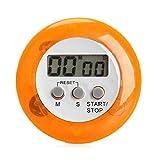 ENERGY01 - Minuteur numérique de Cuisine magnétique avec Alarme sonore écran LCD (Orange)