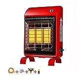 JL Chauffage à gaz avec Dispositif basculant gaz liquéfié Maison économie d'énergie intérieure Chauffage Rapide Chauffage Pied Nouveau Rouge Portable