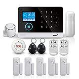 PGST Système d'alarme de sécurité PG-103, 2G + GSM + WiFi - Système d'alarme de sécurité intelligent vidéo pour la maison - Facile à contrôler et à installer - Kit parfait (PG-103)