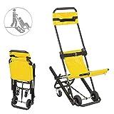 LMEIL Chaise d'escalier EMS, Chaise légère d'évacuation d'escalier, Chaise Pliable d'évacuation de Pompier d'ambulance 4 Roues, capacité de Poids 300lbs
