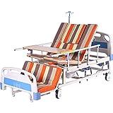 Lit de Soins Multifonctionnel de ménage lit médicalisé de Levage de Patient paralysé lit d'hôpital pour Personnes âgées (200x90x50cm)