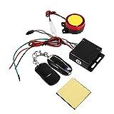 Kit de Système d'Alarme de Sécurité pour Véhicule Antivol de Moto Télécommande 12V Universel Démarrage à Distance Moto