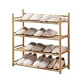 Armoire à Chaussures 4 couches de chaussure en bambou pantoufles Rack de stockage à talons hauts for chambre salon Corridor Range-chaussures peut accueillir 12 paires de chaussures ( Taille : 70cm )