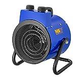 MSW Chauffage À Air Pulsé Électrique Aérotherme Radiateur MSW-TTEH-2000 (2000 W, 2 Niveaux De Puissance, 0-85°C, 185 m3/h)