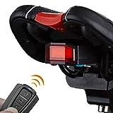 Alarme sans Fil Vibration, Alarme Anti-Vol De Vélos, Smart USB De Charge Queue D'alarme Lumière avec Télécommande, Universel Vélo Électrique Anti-Vol De Véhicules Système