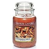 Yankee Candle bougie jarre parfumée   grande taille   Bâton de cannelle   jusqu'à 150 heures de combustion