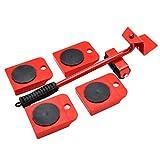 XINGZHE Déplacement de manutention Portable Outil de Poids Lourd for la Machine à Laver Meubles réfrigérateur Articles Plus Lourds, 5.5x36cm lève-Meubles (Color : Red)