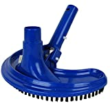 Linxor France ® Tête de balai aspirant demi-lune bleu pour manche standard ou télescopique - Norme CE