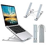 """Babacom Support Ordinateur Portable, Support PC Portable à 9 Niveaux Réglables, Refroidisseur en Aluminium Ventilé Compatible avec MacBook, Dell, Lenovo, HP, Autres Laptops Tablettes 10"""" - 15.6"""""""