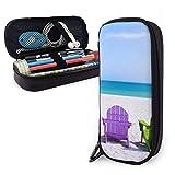 Trousse colorée pour chaise de plage - Pour garçons et filles - Grande trousse de rangement pour stylos - Pour les fournitures scolaires et le bureau
