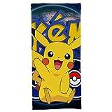 hoist Serviette de bain Pokémon Pikachu - Qualité hôtelière cinq étoiles - Collection Premium - Douce, en peluche et très absorbante - 70 x 140 cm