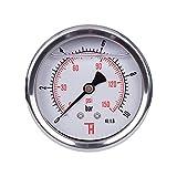 THERMIS Manomètre 358G 1/4 connexion à l'arrière 63 mm (0 - 10 bar) résistant aux chocs