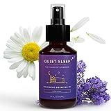 Quiet Sleep Brume d'Oreiller à la Lavande I Spray Sommeil Naturel à l'Huile Essentielle de Lavande I Spray Pour Dormir, réduire le Stress et l'Anxiété I Spray Huiles Essentielles Détente, 100ml
