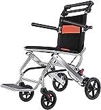 Tabouret de douche marche d'accès - Fauteuil roulant pliant en pliage potable, fauteuil roulant de transport léger avec bras de poignée et pieds de repose-pieds, scooters handicapés âgés - banc de dou