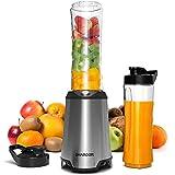 SHARDOR Blender Smoothie Puissant 350W, Mixeur Blender avec 2 Bouteilles BPA-Free Portables de 600ml Mini Blender électrique Multifonctionnel pour Smoothie Milk-shake Fruits