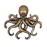 Porte-clés en forme de pieuvre en fonte antique - Crochets muraux décoratifs - Décoration de l'océan - Rangement de bijoux - Bac de rangement - Étagères - Cubes - Banc - Table basse - Tiroirs