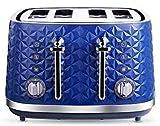 Grille-pain automatique à 4 tranches,grille-pain rétro en acier inoxydable avec 7 réglages de teinte et plateau à miettes amovible,7 niveaux de brunissement et fonction de décongélation personnalisée,
