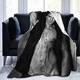 Maichengxuan Ian Joseph Somerhalder Couverture en flanelle Climatisation Couverture Étudiant Doux Imprimé thermique Couverture Adulte 50 x 40 cm