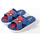 Enfant Spiderman Pantoufles Fille Super-héros Motif Tongs Enfant Plage Piscine Antidérapant Sandales Été Jardin Extérieur Sandale Bord Piscine Lit Pied,Blue- 160~Internal Length 15cm