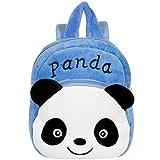 Panda Cartable Scolaire Maternelle, Remebe Panda Sac à Dos Enfant Garderie, Sac à Dos Mignon, Cartable Panda Figure Sac en Néoprène pour bébé Fille garçon 1-7 Ans 27 x 26 x 5cm - Blue Panda