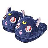 Y-PLAND Chaussures de Lune de Lune de Marin d'anime, Pantoufles de Chat de Hare Luna, Chaussures Chaudes d'intérieur d'hiver-Chat_US5.5-9