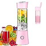 Portable Mixeur Juice Blender, Milk-Shake, Jus de Fruits et Légumes,Mixer,480ml, Sans BPA,Mini USB Blender des Smoothies,100W,Noël Cadeau pour la Famille