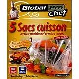 GLOBAL PLASTICS Sacs de Cuisson pour Four et Micro-Ondes (Lot de 4, 20Sacs)