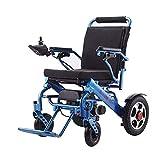 Oaimlr Fauteuil Roulant Electrique Pliable Leger, Fauteuil Roulant Aluminium de 4 Roues, Fauteuil Roulant de Exterieur et intérieur pour handicapé