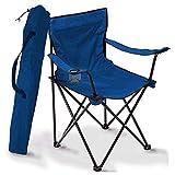 Loisirs de plein air multifonctionnel chaise pliante chaise de pêche pêche chaise de plage croquis pêche chaise de camping-blue