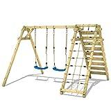 WICKEY Portique de balançoire Smart Cliff Balançoire pour enfants bois Balançoire avec extension d'escalade