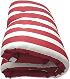 Texturas Home Matelas chaise longue matelassée 180x 55x 5cm Bordeaux
