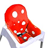 ZARPMA IKEA Antilop Coussin de chaise haute pour bébé, plus épais, lavable et pliable, rembourrage pour chaise d'enfant (rouge)