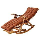 Rocking Chair Fauteuil à Bascule Patio Zero Gravity Chair, avec Coussin ounger Chaise Longue de Jardin Pliante réglable avec Fauteuil inclinable pour Massage des Pieds Convient pour extérieur/inté
