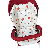 1PC respirant bébé poussette siège Pad siège de voiture doublure chaise haute coussin de siège de matelas en coton de couverture de siège Pad protecteur pour bébé nourrisson (étoile)