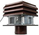 Gemi Elettronica Extracteur De Fumée pour Conduit Rond 20 cm 200 mm pour Cheminée Ventilateur De Radial Chapeau Aspirateur Extracteur Électrique De Fumées pour Poêle Thermique Barbecue Modèle Base