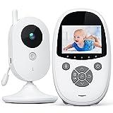 Babyphone Vidéo Caméra de Sécurité Numérique avec écran de 2,4 inch Vision Nocturne Interphone Température Ambiante Berceuses