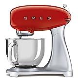 Smeg SMF02RDEU mixeur Robot mixer 800 W Rouge, Argent