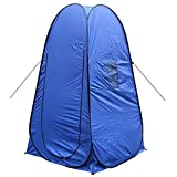 zhenshi Camping en Plein air Plage Salle de Bain Auto Ouvert Portable abri vestiaire Cabine Dressing Armoire de Bain Douche 1-2 Personne Tente-Bleu