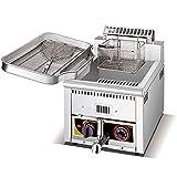 Friteuse à gaz, Frites et Beignets à contrôle Automatique de la température Commerciale Friteuse à gaz, échappement Intelligent, pour Le ménage des Restaurants