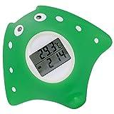 Thermometre Bain, Thermomètre Bebe bain Intérieur Digital, Jouet de Bain avec Alarme LED Convient Pour Baignoire/Piscine/Pièce