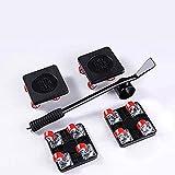 Xiangze 5 pièces roulettes de Meubles Outil de Levage Lourd Lève-Meubles Mobile adapté au Canapé Réfrigérateur Lit en Bois Poids Maximum 250 KG