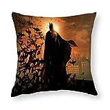 Housse de coussin Batman - Décoration de maison, canapé, lit, salon, voiture - 81 x 81 cm