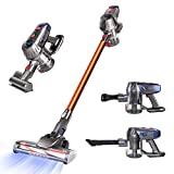 Aspirateur sans Fil Cordless Vacuum Cleaner, 10Kpa Stick Vacuum, 4 in 1 Handheld Bagless Vacuum Cleaner, Lightweight Upright Vacuum with Rechargeable Battery, LED Brush for Floor Carpet Pet Hair